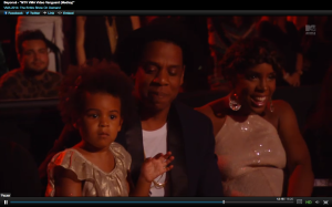 Blue Ivy Carter and her father Shawn Jay-Z Carter
