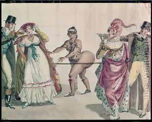 The-Hottentot-Venus-In-The-Salon-Of-The-Duchess-Of-Berry,-1830